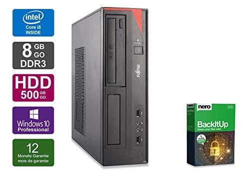 Ordinateur de Bureau Fujitsu D556 - Core i3-6100 @ 3,7 Ghz - 8 Go RAM - 500 Go HDD -sans Lecteur - Win 10 Pro (Reconditionné Certifié)