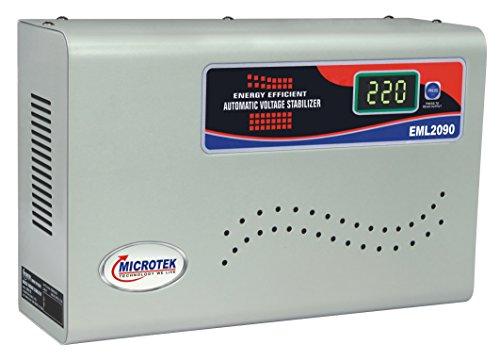Microtek EML2090 Voltage Stabilizer For Mainline (6 Amps) (100V ~ 290V) Voltage Stabilizer (Grey)