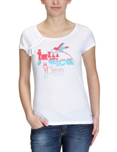 Puma T-shirt Jamaica Beach bianco XS