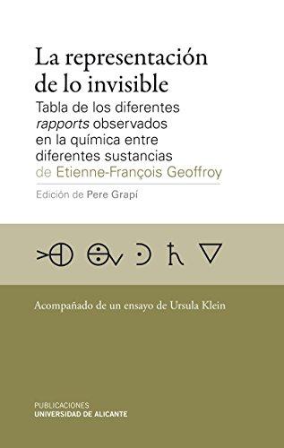 La representación de lo invisible: Tabla de los diferentes rapports observados en la química entre diferentes sustancias (Monografías)