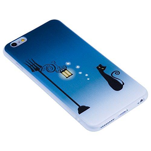 Coque Apple iPhone 6 / 6s Plus (5,5 Pouces) ,BONROY® Ultra-Mince Soft Silicone Etui de Protection pour Modèle de peinture Souple Gel TPU Bumper Anti-Scratch Housse Case Cover Pour Apple iPhone 6 / 6s  Chat de rue