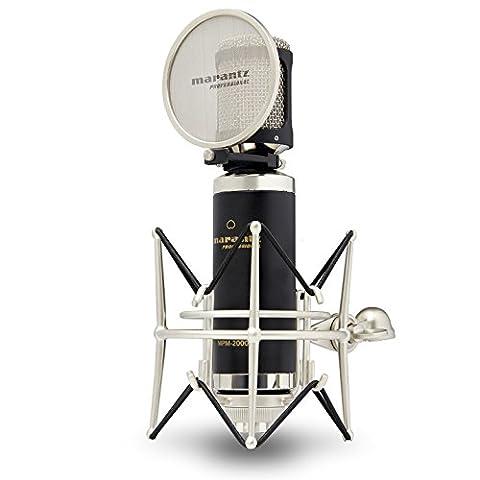 Marantz Professional MPM2000 | Premium Large Diaphragm Condenser Microphone With Pop-Shield, Shock-Mount and Aluminium