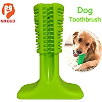 Cepillo de Dientes para Perros - Dog Chew Toothbrush, Nontoxic Bite Resistant Rubber Dog Tooth Chew Cleaning Interactive, Dental Hygiene Brushes for Medium to Large Dogs Cats Pets, Soft Toothbrush (Verde)