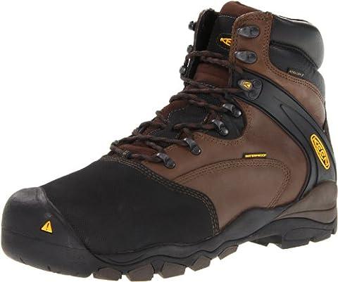 KEEN Utility Men's Louisville 6-Inch Internal Met Work Boot,Slate Black,11 D US