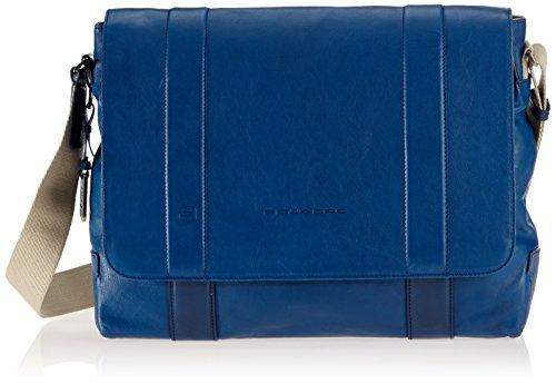 Piquadro Messenger, Collezione Vespucci, in Pelle, 37 cm, Blu