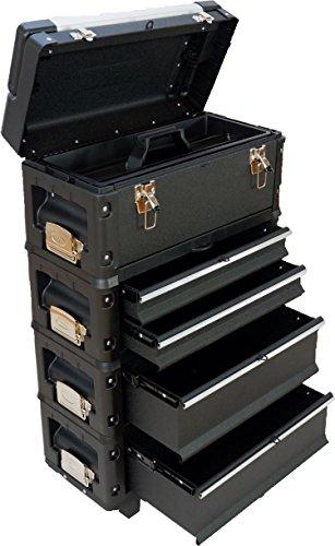 Metall Werkzeugtrolley XXL Type B2-B BLACK EDITION mit Schubladenverriegelung und Schloss von AS-S