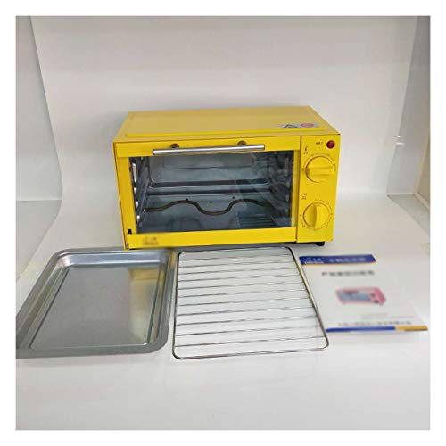 HARDY-YI Mini-Ofen - elektrischer Ofen Startseite Multifunktionsofen Backen elektrischer Ofen Mini elektrischer Ofen -Ofens (Farbe : Gelb)