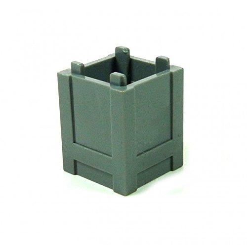 4 x Lego Container Fass Tonne klein grau Müll Eimer Behälter City Castle Zug Schiff Hafen Cargo 61780 B46
