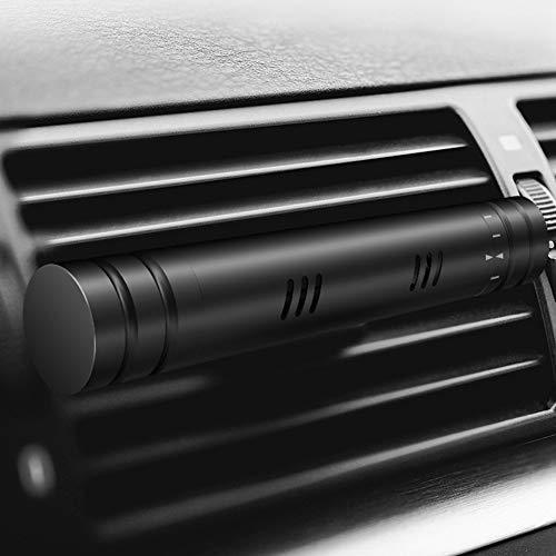 Autoduft Auto-Lufterfrischer Sticks, Auto Lüftung Clip Parfüm Diffusor Geruchsentferner für Auto, Schlafzimmer, Badezimmer, Haustierhäuser Free Size Schwarz