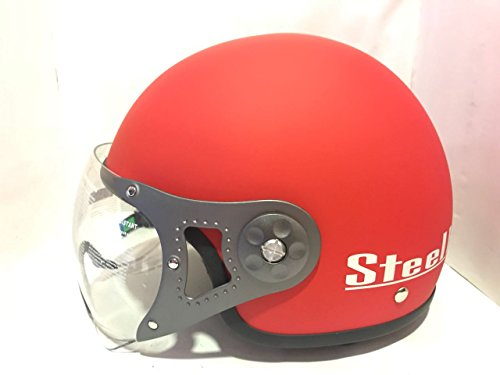 Brotherhood Safety Gears Steelbird sb 27 Helmet (Matt Red, Large)