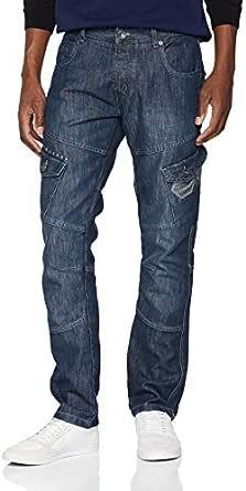 Crosshatch Men's Cargo Straight Jeans