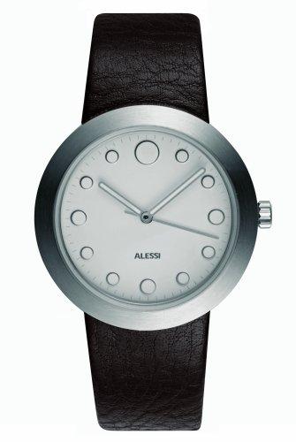 Alessi - AL16001 - Montre Homme - Quartz - Analogique - Bracelet Cuir Marron