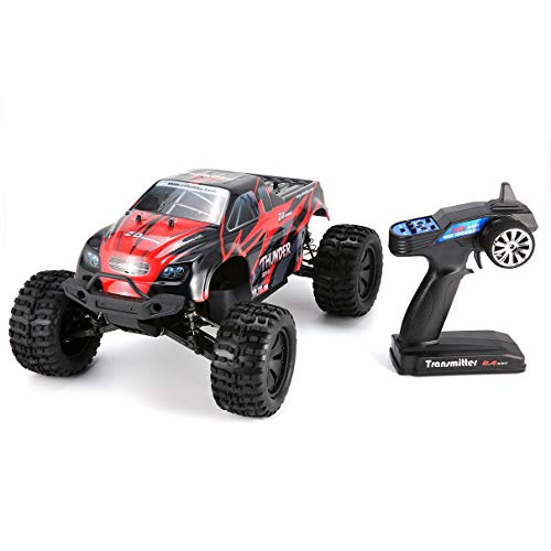 SaraHew74 Fit ZD Racing 9106-S 1/10 Thunder 4WD Brushless 70KM / h Racing RC Auto Bigfoot Buggy Truck RTR Giocattoli Telecomando Veicolo