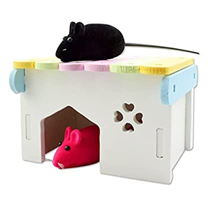 B Blesiya Colorful Hamsters Hideout House Climbing Hut Pet Bedding Cage Teeth Caring 3