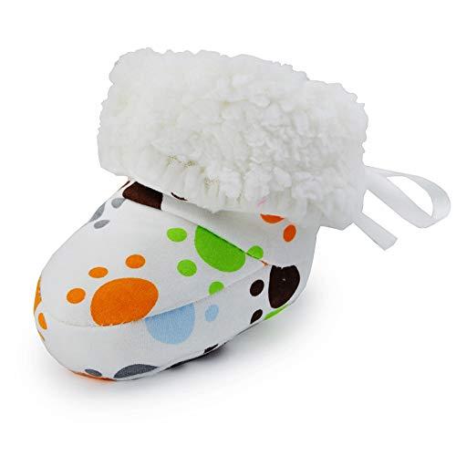 OOSAKU Baby Mädchen Jungen Booties Warme Winter-gemütliche weiche Sohlen-Stiefel Säuglings Prewalker Krippenschuhe