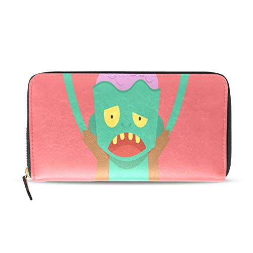 Scary Monster Zombie Cartoon Devil Lange Passport Clutch Geldbörsen Reißverschluss Brieftasche Fall Handtasche Geld Organizer Tasche Kreditkarteninhaber Für Dame Frauen Mädchen Männer Reise Geschenk