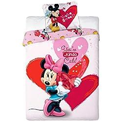 Unbekannt Faro Disney Minnie Mouse Ropa de Cama para niños 140x 200cm (Certificado Öko-Tex Standard 100) 001, algodón, Multicolor 200x 140cm