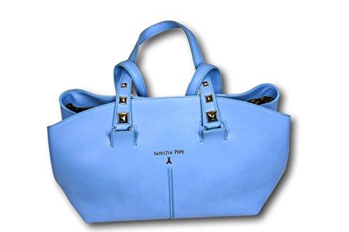 Patrizia Pepe , Sac pour femme à porter à l'épaule bleu bleu ciel