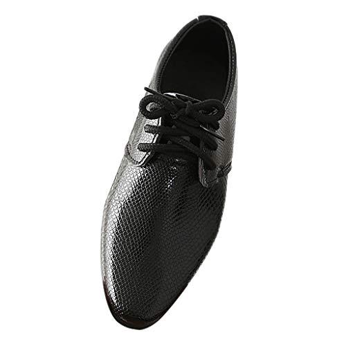 Junge - Junge Schuhe Schnürhalbschuhe Elegant Oxford Anzug Leder Derby Männer Lackleder Lederschuhe ()