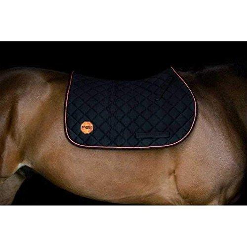 Horseware Rambo Ionic Saddle Pad - Black/Orange - Schabracke, Ausführung:Cob/Horse (M) (Schabracke Horse Orange)