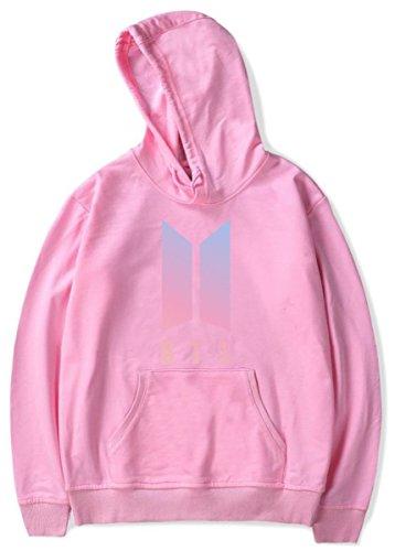SIMYJOY Lovers KPOP Felpa con cappuccio BTS Fans Pullover Hip Hop Felpa Top per Uomo Donna Adolescente RM94 rosa