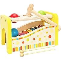 Toys of Wood Oxford Instrument de Musique en Bois - Banc à Marteler avec Xylophone banc à marteler avec xylophone - jouet en bois pour les enfants