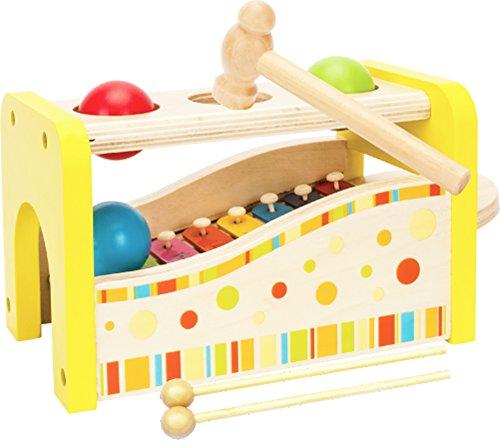 Toys of Wood Oxford Martillo y pelotas y xilófono - Martillo y Clavijas juguetes de madera para bebe