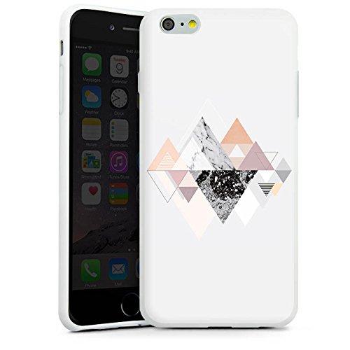 Apple iPhone X Silikon Hülle Case Schutzhülle Abstrakt Dreieck Art Silikon Case weiß