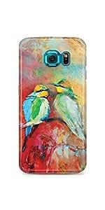 Birds Brush Painting Samsung Galaxy S6 Matte Case