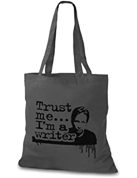 StyloBag Jutebeutel Trust me I m a writer Stofftasche