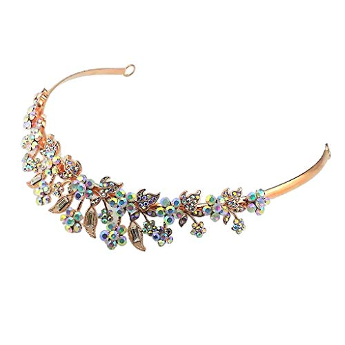 Barock-cocktail (P Prettyia Romantischer Krone Tiara Haarreif Kopfband für Hochzeit Verlobung Bankett und Cocktail Party - Rose Golden)