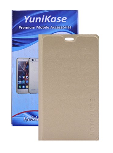 Durable Leather Finish Flip Cover for Coolpad Note 3 Lite - GOLD