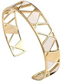 Skalli - Bracelet manchette - Laiton - The Nest - NS05VD Crème