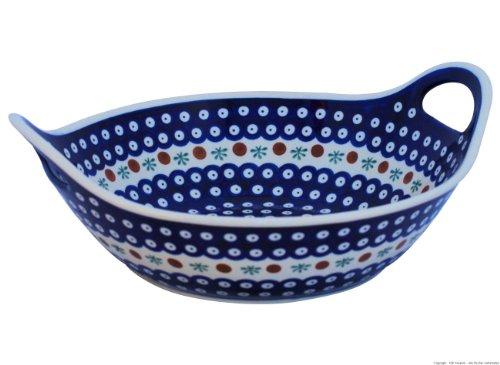 Bunzlauer Keramik designer Schale mit zwei Henkel Ø 33,4 cm im Dekor 41
