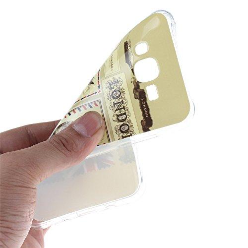 Samsung Galaxy J5 hülle MCHSHOP Ultra Slim Skin Gel TPU hülle weiche weiche Silicone Silikon Schutzhülle Case für Samsung Galaxy J5 - 1 Kostenlose Stylus (Löwenzahn sich verlieben (Dandelions Fall in  Briefpapier und Umschläge Stempel (Letter Paper and En