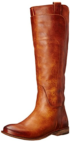 FRYE Women's Paige Tall-Apu Riding Boot, Cognac, 5.5 M US (Toe Boots Round Knee High)