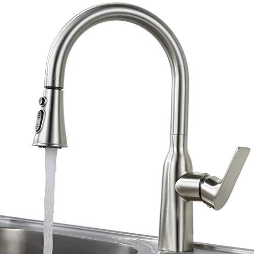 Wasserhahn Küche Ausziehbar Küchenarmatur mit Brause Armatur Küche 360° drehbar Einhebelarmatur Spültischarmatur Rostfreier Edelstahl Mischbatterie