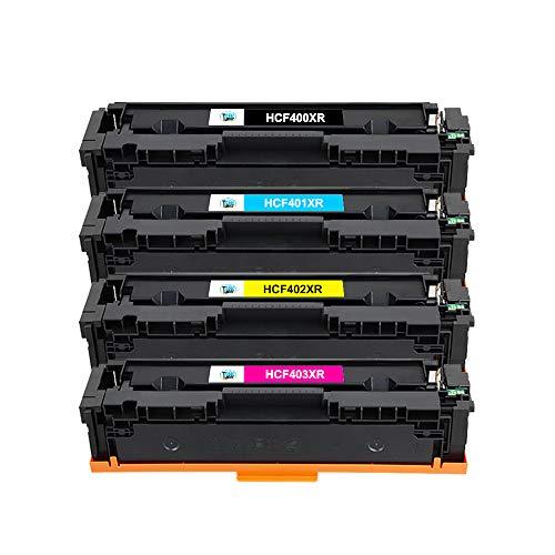 Cool Toner 4 Pack Kompatibel für HP 201X 201A CF400X-CF403X Toner für Toner MFP M277dw HP Color Laserjet Pro MFP M277 M277dw M277n M274n M252 M252dw M252n