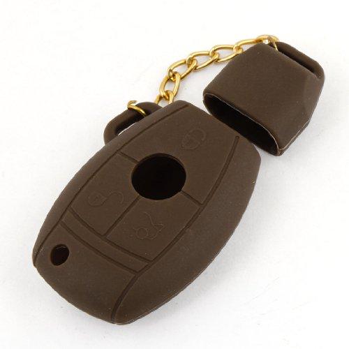 Mercedes-silikon-schlüssel-abdeckung (sourcingmap® Braun Granate Form Silikon Auto Schlüssel Beutel Abdeckung für Benz Silikon)