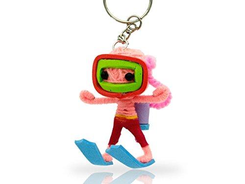 Alsino Voodoo Puppe Püppchen Sorgenpüppchen Voodoopuppe Glücksbringer Voodoll Schlüsselanhänger, wählen:SA-V177 Taucher