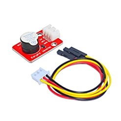 Bobury DC Power Supply Mini attivo Buzzer Modulo con cavo di legare 3Pin per Arduino Development Board