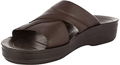 Aerosoft Men's Brown Rubber Sandals - 6 Uk