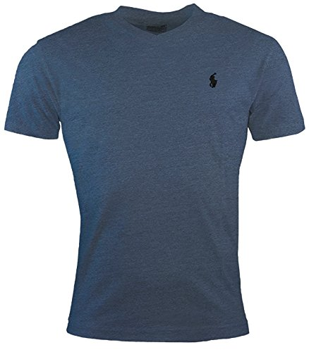Polo Ralph Lauren Herren Classic Fit V-Ausschnitt Pony Logo Gr. L, Blue Ocean Heather