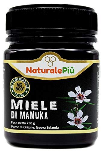 Miel de Manuka 800+ MGO 250 gr   Produit en Nouvelle-Zélande. Actif et brut, 100 % pur et naturel   Méthylglyoxal testé  