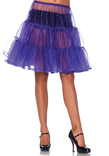 LEG AVENUE A1965 - Knee Length Petticoat Skirt Petticoats, Einheitsgröße (Traube)