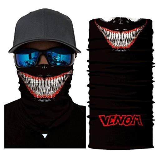 VAWAA Superhelden Spider-Man Hulk Harley Quinn Iron Man Motorrad Radfahren Hals Schal Halb Gesicht Maske Stirnband Cosplay Masken
