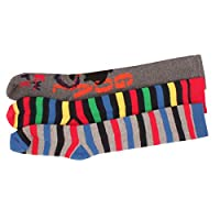 3 x Boys Kids Children Wellington Welly Motif Design Thermal Warm Long Socks