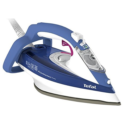 Tefal Aquaspeed Precision FV5540 - Plancha (Plancha a vapor, 2 m, 180 g/min, Azul, 0,3 L, 2600 W)