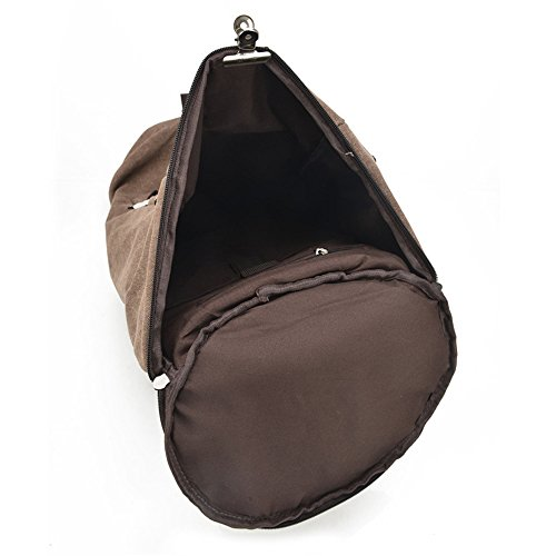 Anne, Borsa a zainetto donna verde Trumpet brown Large Khaki