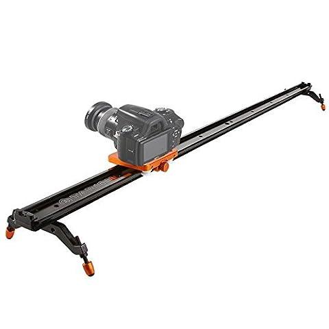 TARION TR-SD80 80cm Videoschiene Dolly Kamera Video Rail Slider Schiene Kamerawagen mit Tragetasche für Kamerafahrt mit DSLR, Video und Camcorder (Kamerafahrt bis zu 80cm)